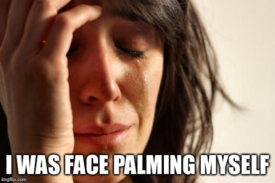 First World Problems Meme | I WAS FACE PALMING MYSELF | image tagged in memes,first world problems | made w/ Imgflip meme maker