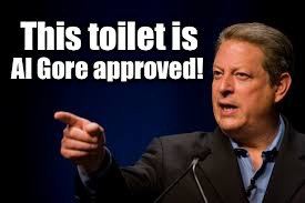 This toilet is Al Gore approved! | made w/ Imgflip meme maker