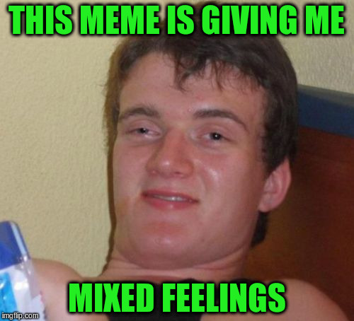 10 Guy Meme | THIS MEME IS GIVING ME MIXED FEELINGS | image tagged in memes,10 guy | made w/ Imgflip meme maker