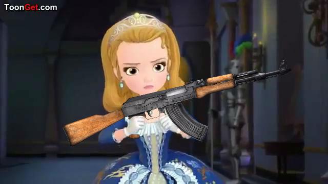 High Quality Princess Amber Use AK 47 Blank Meme Template
