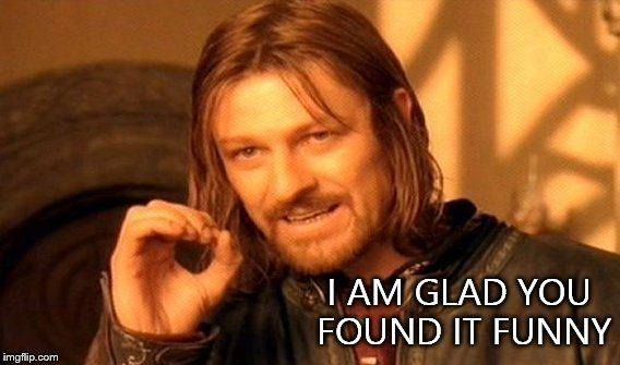 One Does Not Simply Meme | I AM GLAD YOU FOUND IT FUNNY | image tagged in memes,one does not simply | made w/ Imgflip meme maker