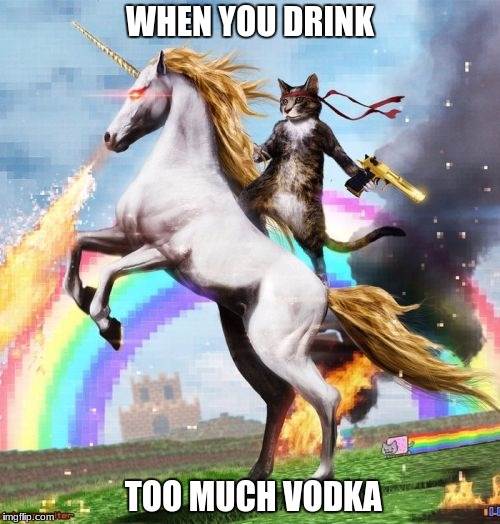 Welcome To The Internets Meme | WHEN YOU DRINK TOO MUCH VODKA | image tagged in memes,welcome to the internets | made w/ Imgflip meme maker