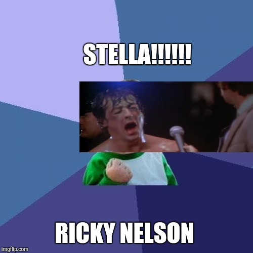 Success Kid Meme | STELLA!!!!!! RICKY NELSON | image tagged in memes,success kid | made w/ Imgflip meme maker