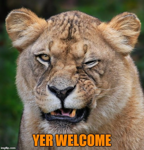 YER WELCOME | made w/ Imgflip meme maker