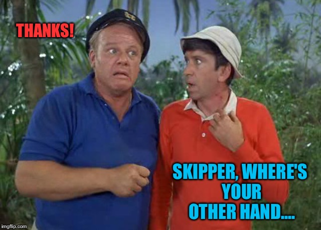 THANKS! SKIPPER, WHERE'S YOUR OTHER HAND.... | made w/ Imgflip meme maker