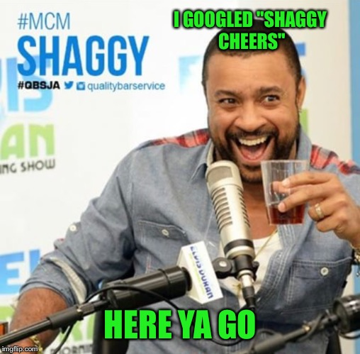 "I GOOGLED ""SHAGGY CHEERS"" HERE YA GO 