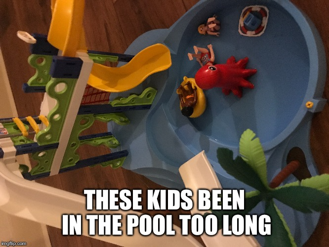 THESE KIDS BEEN IN THE POOL TOO LONG | made w/ Imgflip meme maker