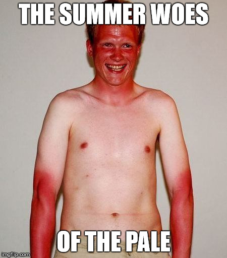 THE SUMMER WOES OF THE PALE | made w/ Imgflip meme maker