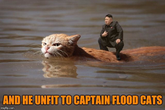 AND HE UNFIT TO CAPTAIN FLOOD CATS | made w/ Imgflip meme maker