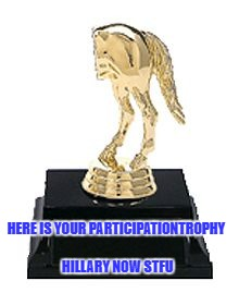Shut Up Hillary... ya Sore Loser !America is Glad we didn't Elect a Whiny Bitch as President! | HERE IS YOUR PARTICIPATIONTROPHY HILLARY NOW STFU | image tagged in hillary clinton,hillary clinton 2016,trump won | made w/ Imgflip meme maker