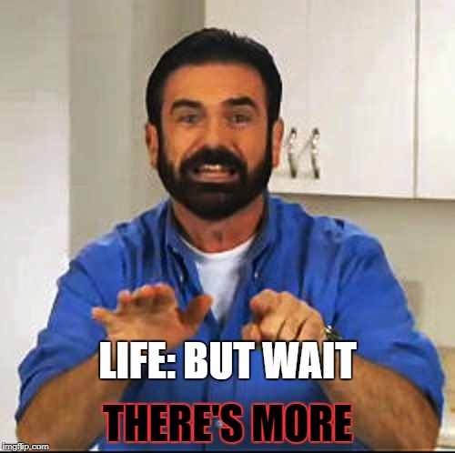 Billy Mays | LIFE: BUT WAIT THERE'S MORE | image tagged in billy mays | made w/ Imgflip meme maker