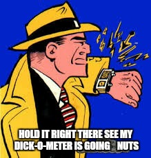 HOLD IT RIGHT THERE SEE MY DICK-O-METER IS GOING    NUTS | made w/ Imgflip meme maker