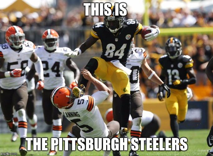 THIS IS THE PITTSBURGH STEELERS | image tagged in antonio brown | made w/ Imgflip meme maker