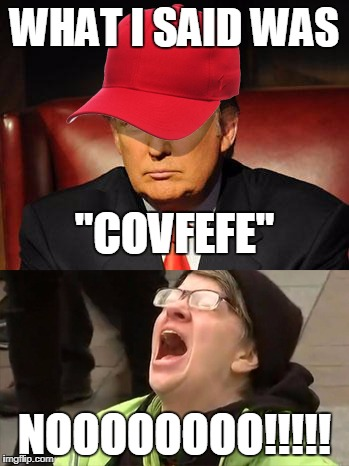"Trump Hat No | WHAT I SAID WAS NOOOOOOOO!!!!! ""COVFEFE"" 