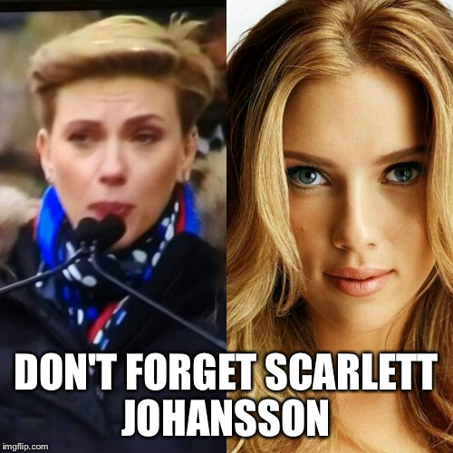 DON'T FORGET SCARLETT JOHANSSON | made w/ Imgflip meme maker