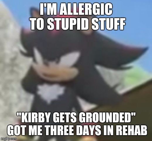 "Shadow Allergic to Bullshit | I'M ALLERGIC TO STUPID STUFF ""KIRBY GETS GROUNDED"" GOT ME THREE DAYS IN REHAB 