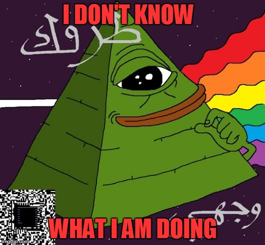 I DON'T KNOW WHAT I AM DOING | image tagged in pepe | made w/ Imgflip meme maker