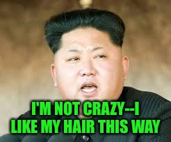 I'M NOT CRAZY--I LIKE MY HAIR THIS WAY | made w/ Imgflip meme maker