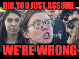 DID YOU JUST ASSUME WE'RE WRONG | made w/ Imgflip meme maker
