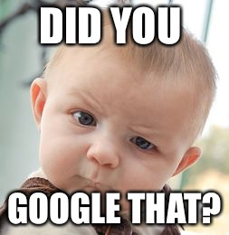 Skeptical Baby Meme | DID YOU GOOGLE THAT? | image tagged in memes,skeptical baby | made w/ Imgflip meme maker