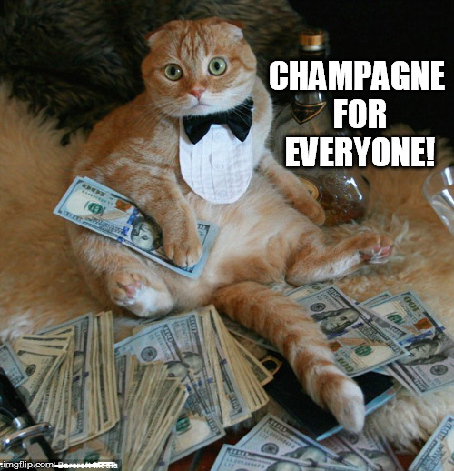 CHAMPAGNE FOR EVERYONE! | made w/ Imgflip meme maker