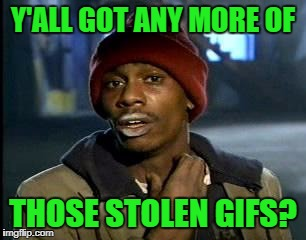 Y'all Got Any More Of That Meme | Y'ALL GOT ANY MORE OF THOSE STOLEN GIFS? | image tagged in memes,yall got any more of | made w/ Imgflip meme maker