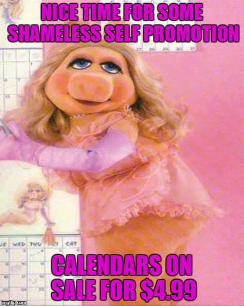 NICE TIME FOR SOME SHAMELESS SELF PROMOTION CALENDARS ON SALE FOR $4.99 | made w/ Imgflip meme maker