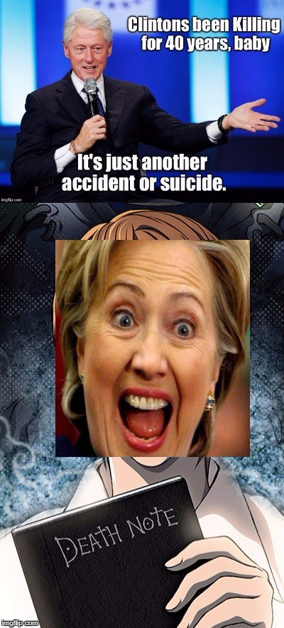 image tagged in death note,bill clinton,hillary clinton | made w/ Imgflip meme maker