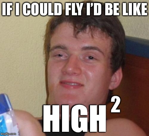10 Guy Meme | IF I COULD FLY I'D BE LIKE HIGH 2 | image tagged in memes,10 guy,smoke weed everyday,legalize weed,marijuana,high as fuck | made w/ Imgflip meme maker