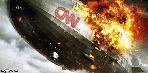 Oh The Humanity... | image tagged in cnn blimp,hindenberg,cnndenberg,fake news sucks,funny,meme | made w/ Imgflip meme maker