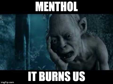MENTHOL IT BURNS US | made w/ Imgflip meme maker
