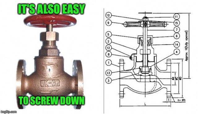 IT'S ALSO EASY TO SCREW DOWN | made w/ Imgflip meme maker