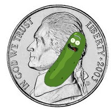 Ya'll may have heard of an elf on the shelf. get ready for     Rick the pickle on a nickel | image tagged in rick and morty,elf on the shelf,new meme | made w/ Imgflip meme maker