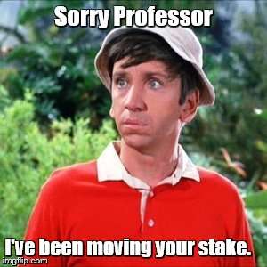 Sorry Professor I've been moving your stake. | made w/ Imgflip meme maker