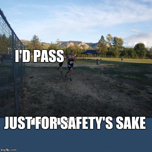 I'D PASS JUST FOR SAFETY'S SAKE | made w/ Imgflip meme maker
