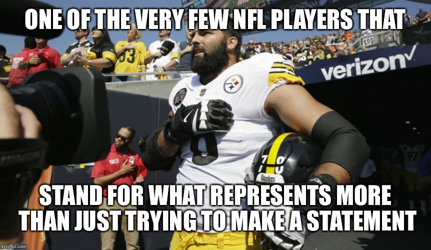 ONE OF THE VERY FEW NFL PLAYERS THAT STAND FOR WHAT REPRESENTS MORE THAN JUST TRYING TO MAKE A STATEMENT | made w/ Imgflip meme maker