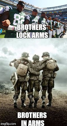 BROTHERS LOCK ARMS BROTHERS IN ARMS | image tagged in brothers | made w/ Imgflip meme maker