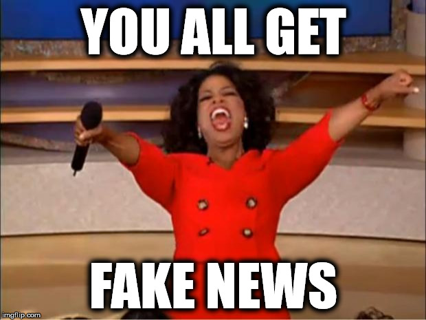 Oprah You Get A Meme | YOU ALL GET FAKE NEWS | image tagged in memes,oprah you get a | made w/ Imgflip meme maker