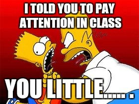 I TOLD YOU TO PAY ATTENTION IN CLASS YOU LITTLE..... . | made w/ Imgflip meme maker
