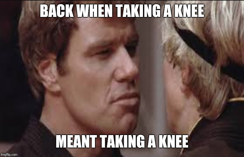 Karate Kid Sweep the Leg | BACK WHEN TAKING A KNEE MEANT TAKING A KNEE | image tagged in take a knee | made w/ Imgflip meme maker