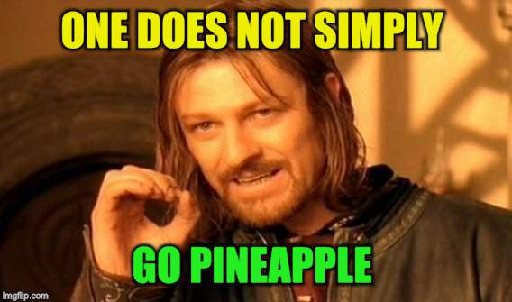 One Does Not Simply Meme | ONE DOES NOT SIMPLY GO PINEAPPLE | image tagged in memes,one does not simply | made w/ Imgflip meme maker