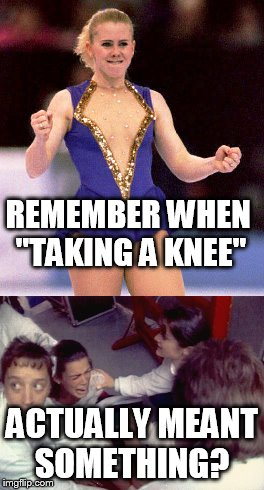 """taking a knee""? 