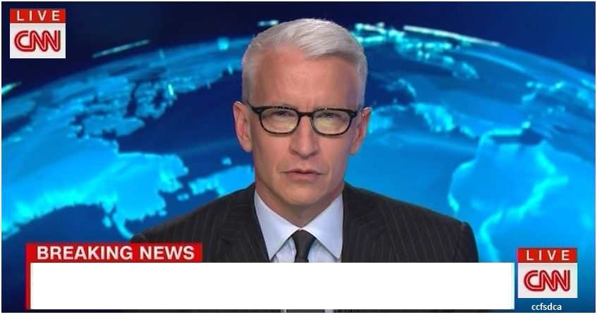 High Quality CNN Breaking News Anderson Cooper Blank Meme Template