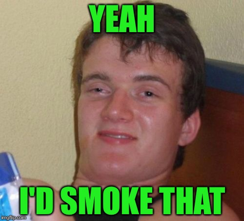 10 Guy Meme | YEAH I'D SMOKE THAT | image tagged in memes,10 guy | made w/ Imgflip meme maker