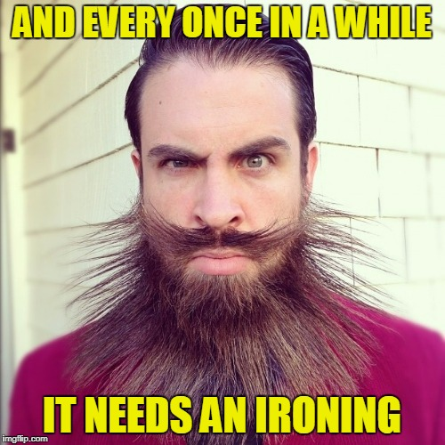 AND EVERY ONCE IN A WHILE IT NEEDS AN IRONING | made w/ Imgflip meme maker