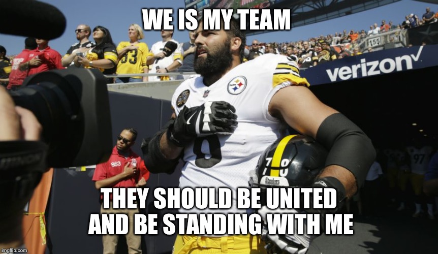 WE IS MY TEAM THEY SHOULD BE UNITED AND BE STANDING WITH ME | made w/ Imgflip meme maker
