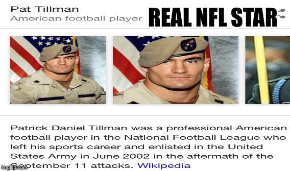 REAL NFL STAR | made w/ Imgflip meme maker