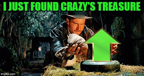 I JUST FOUND CRAZY'S TREASURE | made w/ Imgflip meme maker