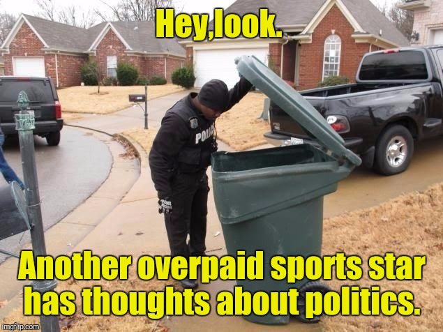Fake News  | Hey,look. Another overpaid sports star has thoughts about politics. | image tagged in fake news | made w/ Imgflip meme maker