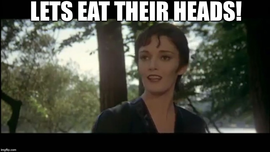 Ursula | LETS EAT THEIR HEADS! | image tagged in ursula | made w/ Imgflip meme maker